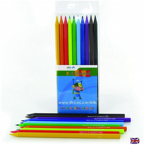 Recycled Full Length 10CT Colouring pencils