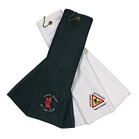 Velour Tri Fold Golf Towel