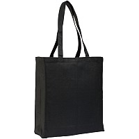 Allington Black Cotton Canvas Shopper