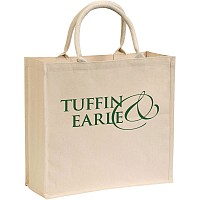 Broomfield Laminated Natural Cotton Canvas Tote