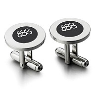 Orb Silver Plated Cufflinks