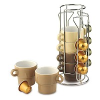Espresso set with stand